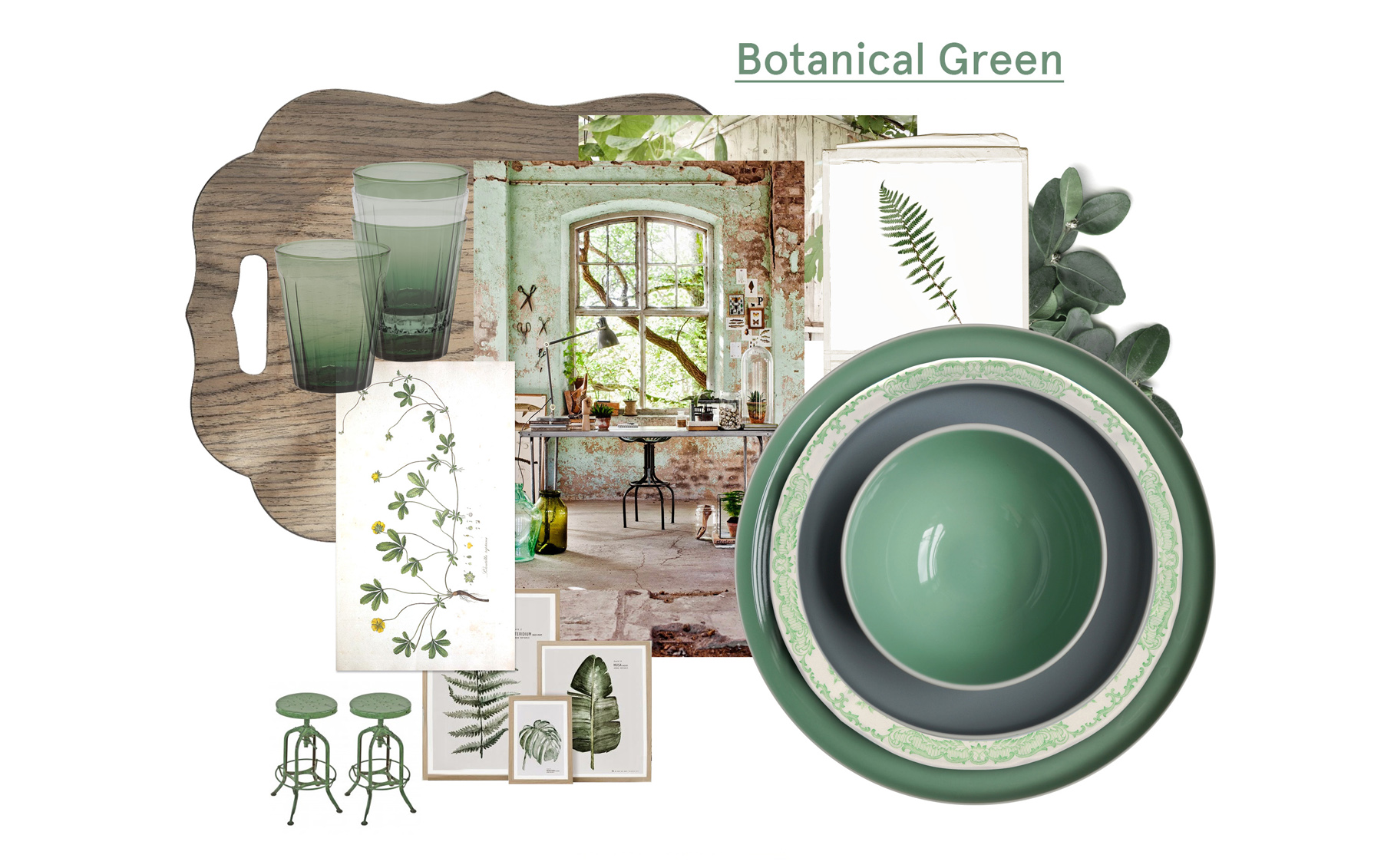Botanical green Bitossi Home
