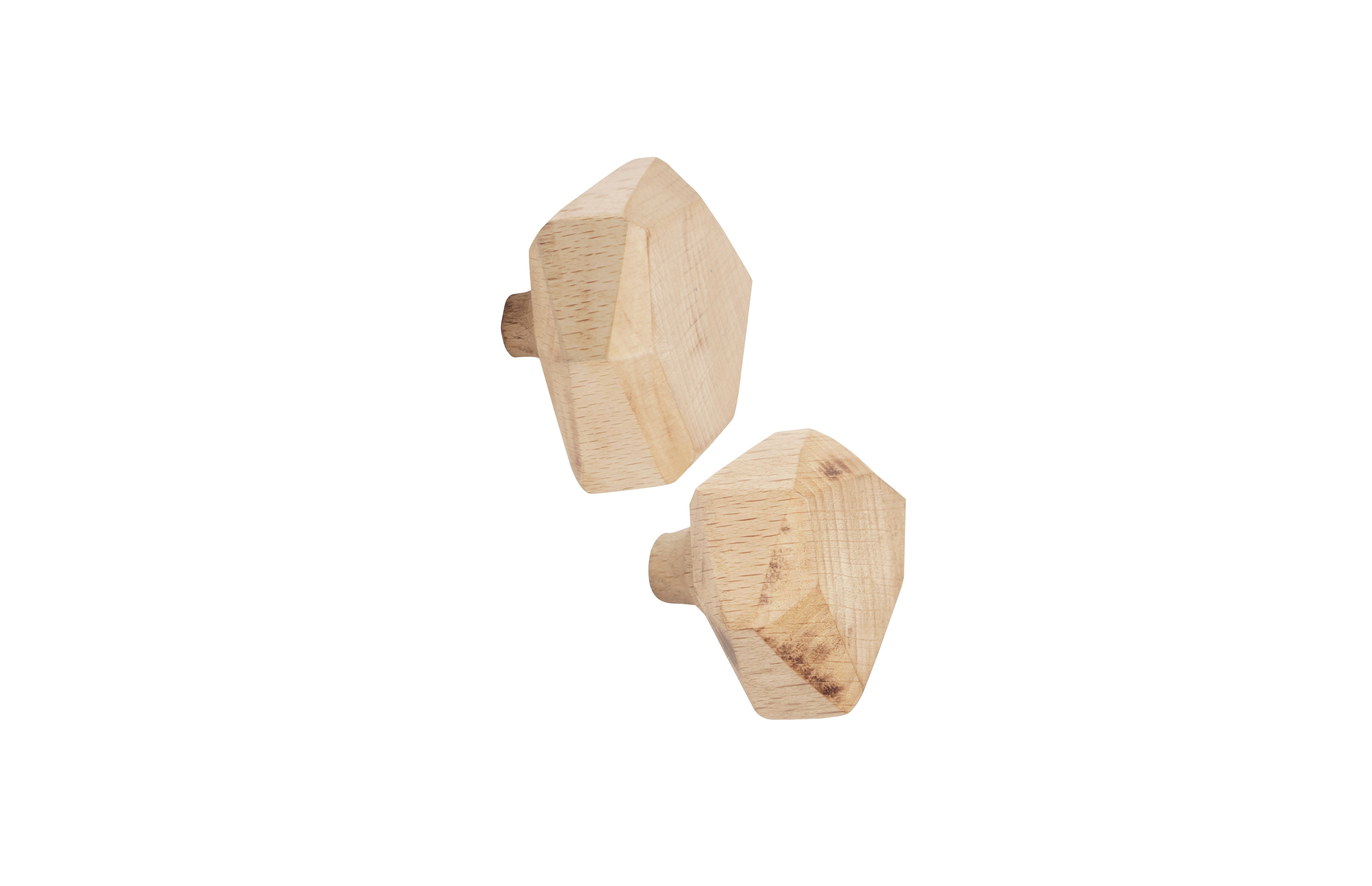 Wooden hooks Wout, set of 2