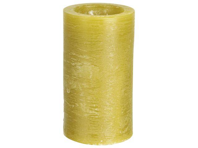 Gusta Rustieke kaars �6,5x11,5cm Geel