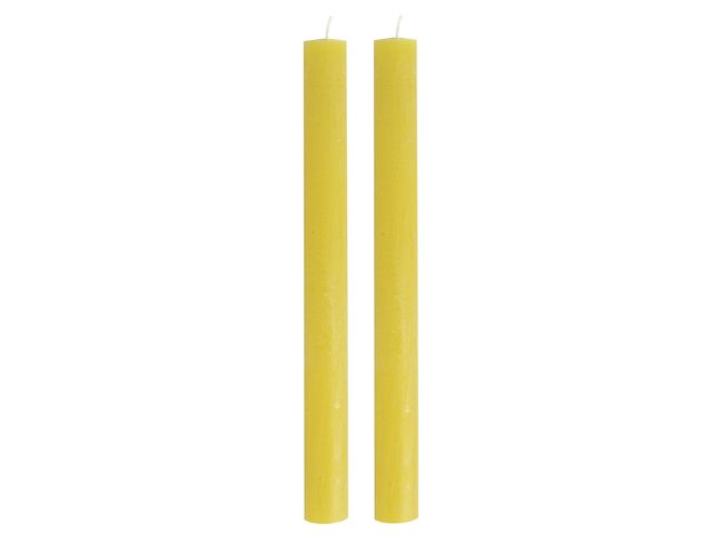Gusta Set van 2 Dinerkaarsen 24,5cm Geel