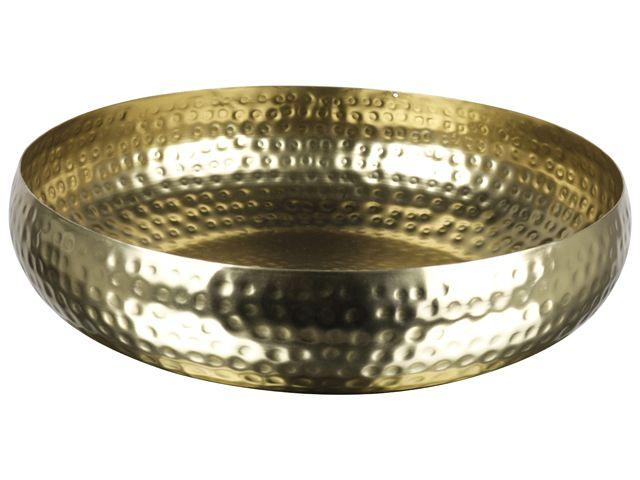 Gusta Schaal �25,5x6,5cm Goud