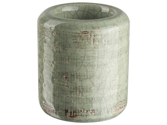 Gusta Theelichthouder �7x8cm Groen/Bruin