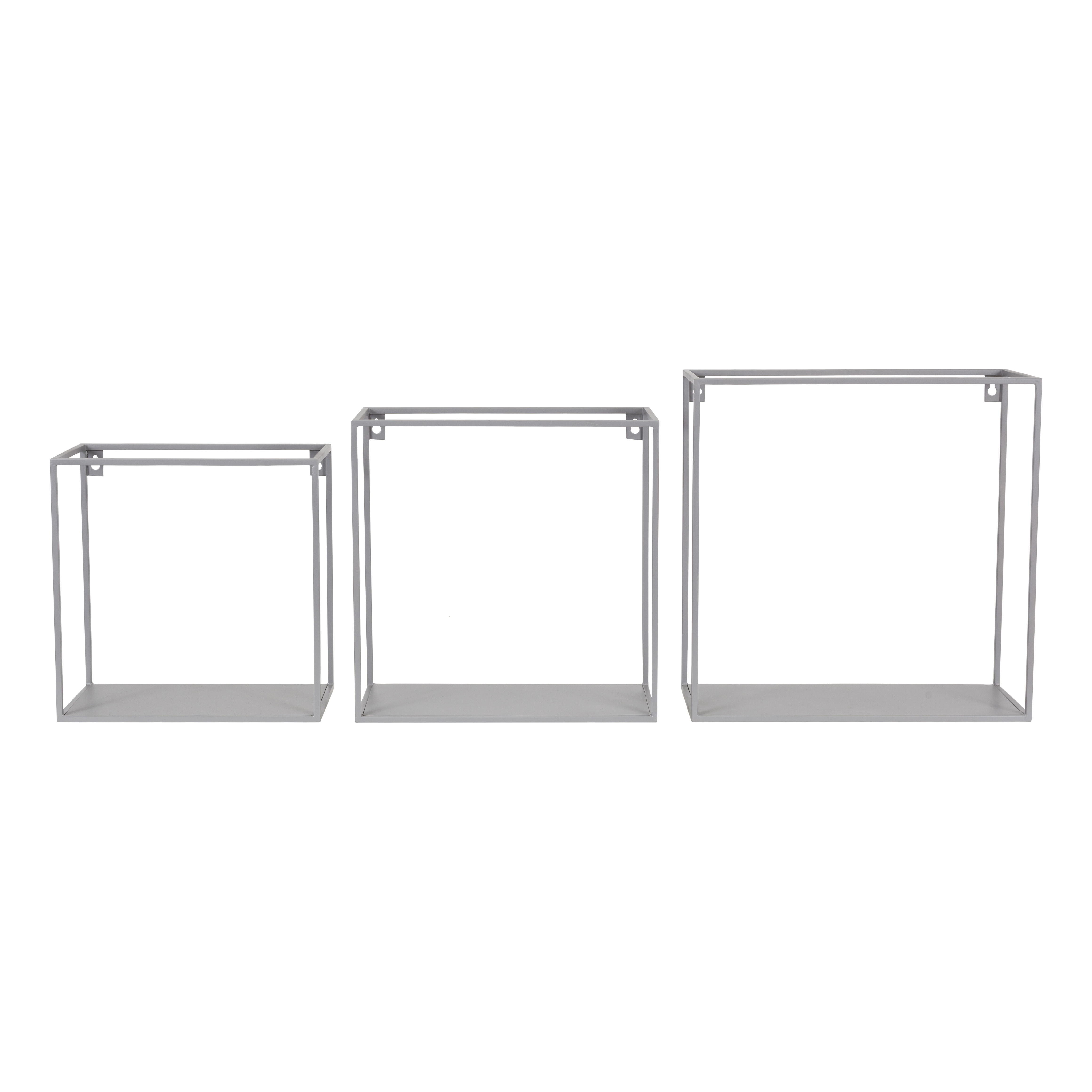 Wire wallbox grijs set 3 stuks