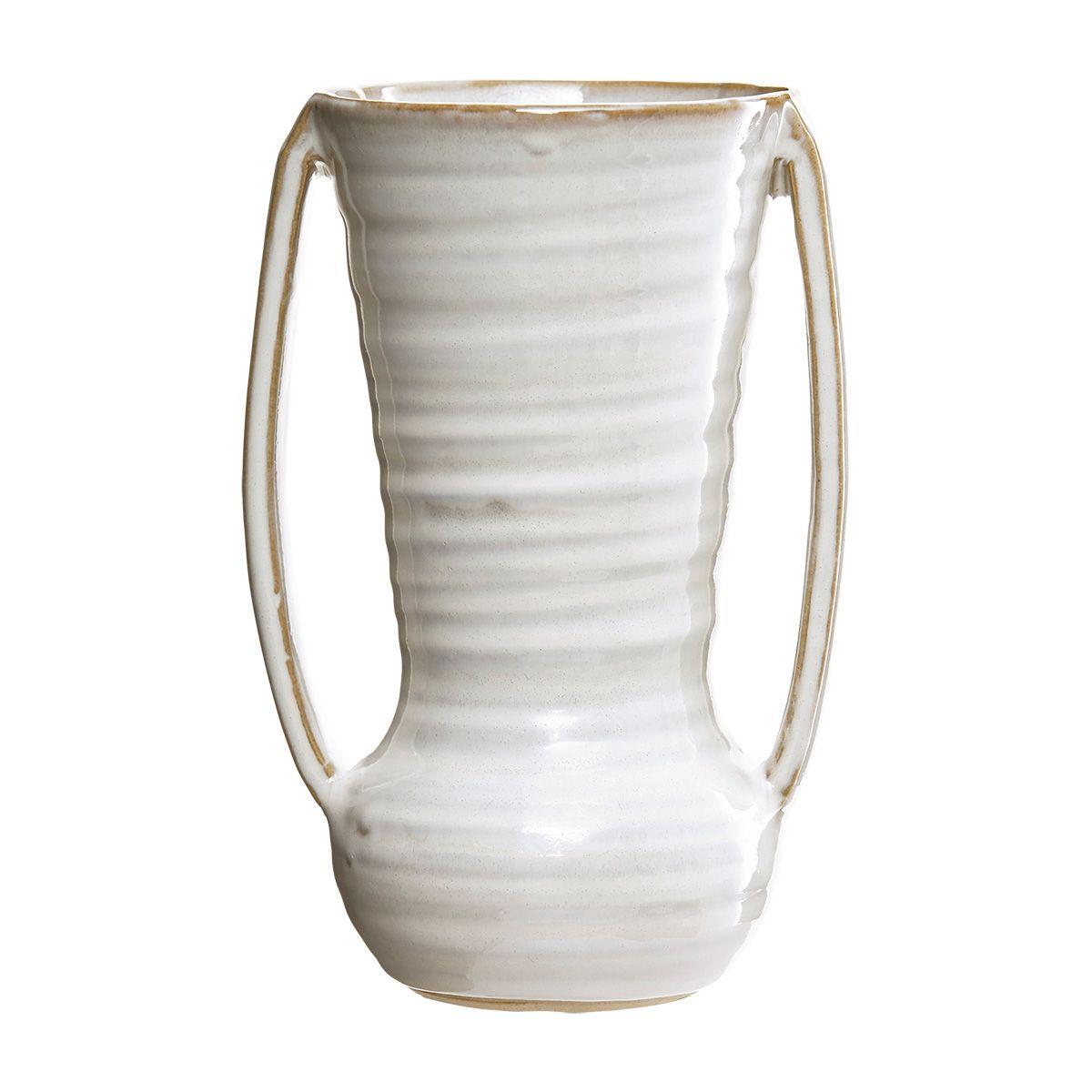 Deze vaas van house doctor is handgemaakt en heeft daardoor een romantische, pure uitstraling. mooi in ...