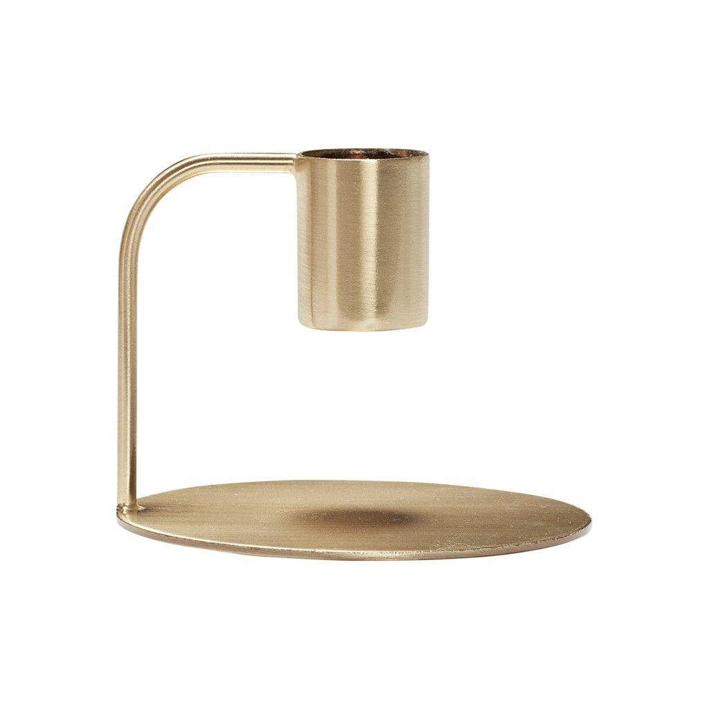 Kandelaar metaal brass
