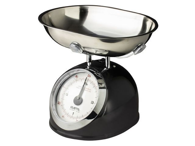 Gusta Keukenweegschaal 2kg Zwart