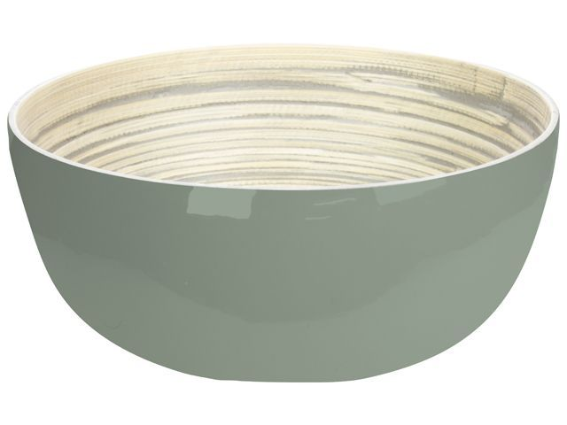 Gusta Schaal 24x10cm Bamboe Groen