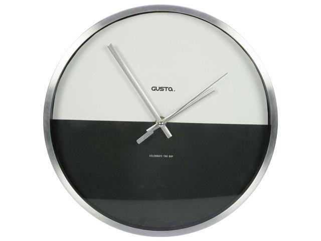 Gusta Aluminium klok 28cm