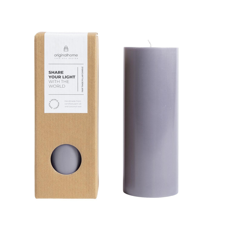 Original Home Pillar Candle Dark Grey