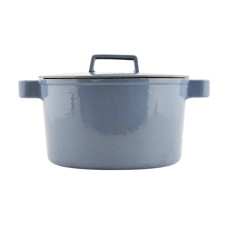 Gietijzeren pan, blauw
