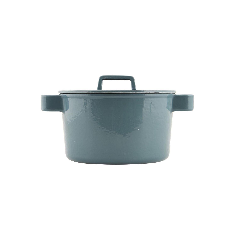 Gietijzeren pan, groen