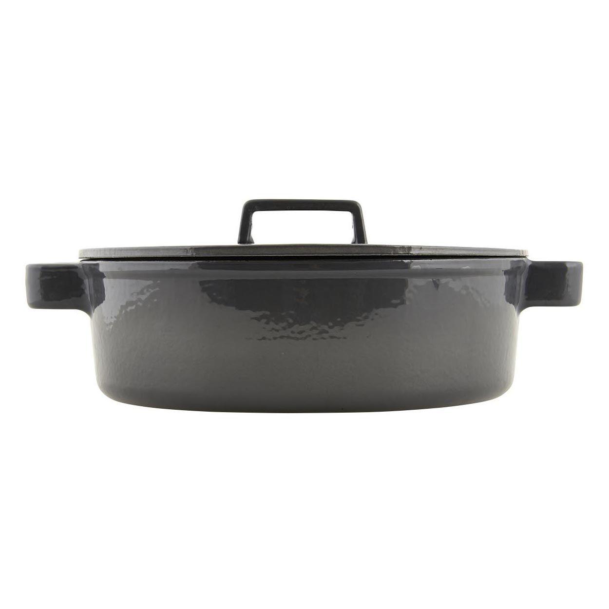 Gietijzeren pan, donkergrijs