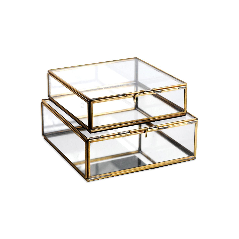 Glazen box goud