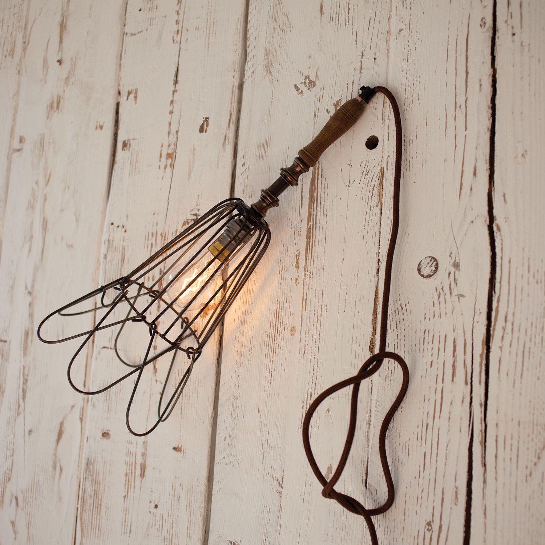 Industriële wandlamp Deevika